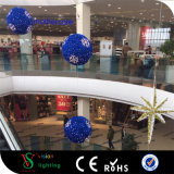 LED Tinsel Christmas Ball Motif Lights