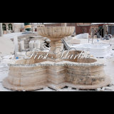 Fontaine antique de travertin pour un cadeau Mf-756