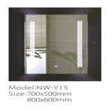 Specchio illuminato astuto d'argento di abitudine LED della stanza da bagno di vanità