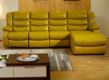 Sofá de 1 + 3 plazas, sofá de cuero moderno, sofá de reclinación de tipo manual (GA01)
