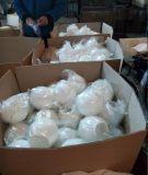 Boules acryliques blanches de vente chaudes de résine d'espace libre fait sur commande de décoration