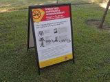 Vloeibare Natte Openlucht van de Raad van het Krijt Zwarte een Frame ondertekent de Afgedrukte Affiches van de Sandwich van de Druk Carlsbad Stoep voor de Openlucht Draagbare Tribune van de Vertoning van de Reclame