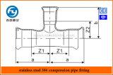 Edelstahl-Rohrpressfitting T Reduzierung
