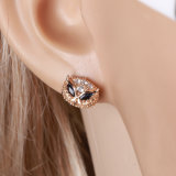 형식 Fox 18k Gold CZ Fashion Earring Jewelry (25630)