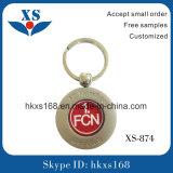 Ledernes Metall Keychain mit graviertem Firmenzeichen