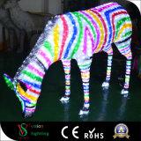 Cebra de la iluminación de la luz 3D de la decoración del partido