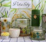 Heißer Verkaufs-Duft gerochene Votive Glaskerze mit Farben-Kasten und Farbband-Bogen-Verpackung für Hauptdekor