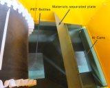El plástico de las latas de aluminio embotella el sistema de la separación de las latas del hierro