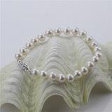 Snh 7mm nahe rundem weißem Perlen-Schmucksache-Set