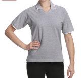 Lo Short di buona qualità di disegno semplice collega la camicia con un manicotto di polo delle donne normali