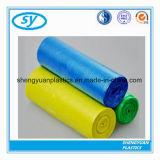 HDPE Maagdelijke Materiële Plastic Vuilniszak Drawstring