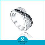 Nieuw bedek het Plaatsen van 925 Echte Zilveren Ring voor Korting (r-0479)