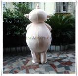 Mascotte Logy del personaggio dei cartoni animati di Makka Pakka (nel giardino di notte)