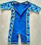Swimwear короткой втулки Lycra малыша цельные & костюм подныривания цвета