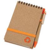 Mini caderno espiral de A6 A7 com a pena para a impressão feita sob encomenda (PNB046)