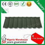 Tuiles de toit en acier enduites en métal de tuile de toit de sable de Guangzhou