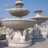 Fontaine d'eau extérieure découpée par main de marbre en pierre normal de granit de 100%