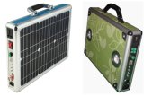 rectángulo portable del caso del sistema eléctrico solar 20W con el jugador de radio MP3 de FM