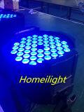 54 X 3W RGBWはクラブ党ランプのディスコ音楽ライト党のための同価ライトを防水する