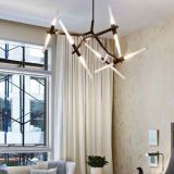 Moderne LED Haning hängende Lampe des wundervollen Wohnzimmer-beleuchtet Beleuchtung im Schwarzen, G9 3W, 3000k