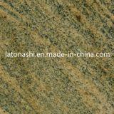 Azulejos de pedra de granito vermelho natural polido para pavimento, pavimentação, decorativos