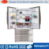 Aucun réfrigérateur side-by-side de porte française de gel avec Icemaker