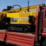 installatie van de Boring van de Hamer van het Kruippakje van 150m de Roterende met de Compressor van de Lucht