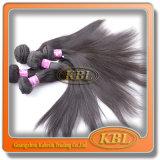 Natural em linha reta do cabelo 7A humano brasileiro