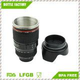Tazza di caffè - Thermos di corsa dell'obiettivo di macchina fotografica - tazza isolata dell'acciaio inossidabile