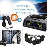 Het zonne-aangedreven Interne Systeem van het Alarm van de Controle van de Sensor van de Druk van de Band van de Auto Automobiel Interne TPMS met LEIDENE Vertoning