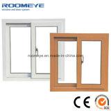PVC insonorizzato Windows scorrevole orizzontale di bianco con singolo vetro