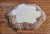 Echtes Schaffell-rundes Schemel-Auflage-Sofa-Kissen