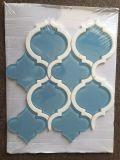 Azulejo de mosaico de cristal de la linterna cristalina azul