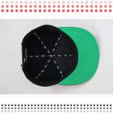 Sombreros de acrílico modificados para requisitos particulares del Snapback del espacio en blanco del diseño con el borde del cuero del leopardo