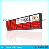 Quadro indicador de anúncio acrílico da caixa leve do menu do diodo emissor de luz para o restaurante