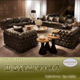 Живущий софа кожи мебели комнаты (B8)