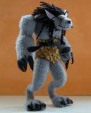 Jouet fabriqué à la main de poupée de Knit bourré par peluche de jeu de Lol