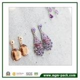 Estilo simple exhibición de la joyería del terciopelo por los anillos de oído