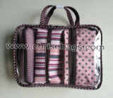 Conjuntos de PVC e poliéster Make-up Gift Handbag
