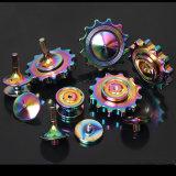 Hilandero llamativo de la mano del arco iris del hilandero de la persona agitada del metal del juguete de DIY