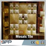 Mosaico de mármore barato, mosaico de mármore branco com amostra livre