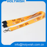 Faixa de Breakaway de Eventos de Cordas de Pescoço de Poliéster Impresso com Logotipo de Sublimação