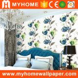 Papel pintado hermoso del PVC de la flor para las paredes