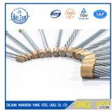 オーバーヘッド電力線装置のための電流を通された滞在ワイヤーまたはガイワイヤーまたは鋼線の繊維