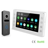 Memoria 7 pulgadas del intercomunicador del timbre de vídeo Doorphone de la seguridad casera
