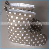 شتاء صبغ وطباعة ليّنة قطب إلى أسفل أحذية