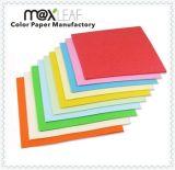 Papel colorido de la cartulina para la fábrica directa del papel sin procesar del color del papel del corte de Handmake