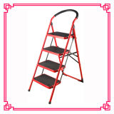 Escaleras del Portable del hogar del color rojo