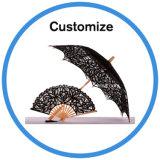 Ombrello bianco di cerimonia nuziale del merletto del parasole del mestiere della decorazione