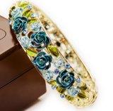 Braceletes bonitos da jóia da flor da forma para mulheres